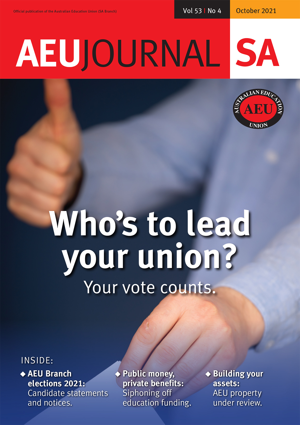 Cover of October AEU Journal